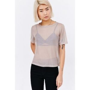 Urban outfitters sheer t shirt